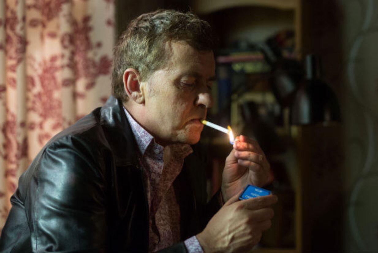 Alfie Moon/ cigarette. Eastenders BBC1.