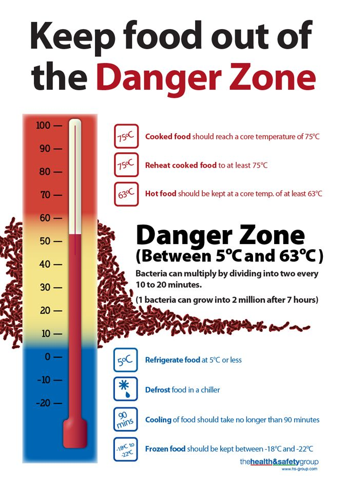 Never let food remain in the danger zone for long. | 'FOODSAFE ...