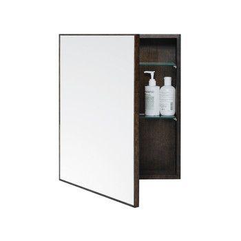 Wireworks Slimline Bathroom Cabinet Dark Oak