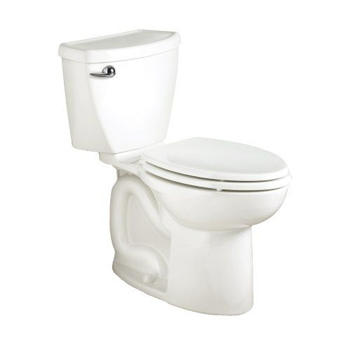 American Standard Cadet-3 Right Height Elongated Two-Piece Toilet with 10-Inch Rough-In, White 2386.010.020