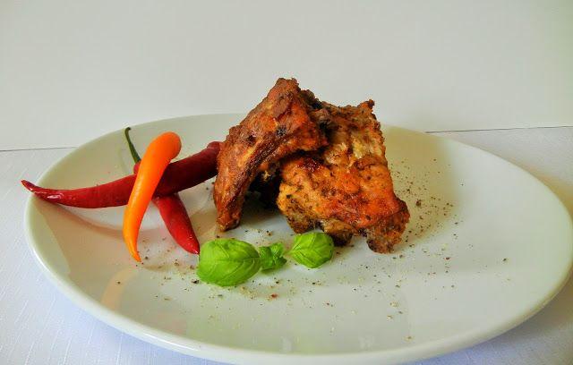 Kulinaria Uli: Pikantne zeberka (pieczone w piekarniku )