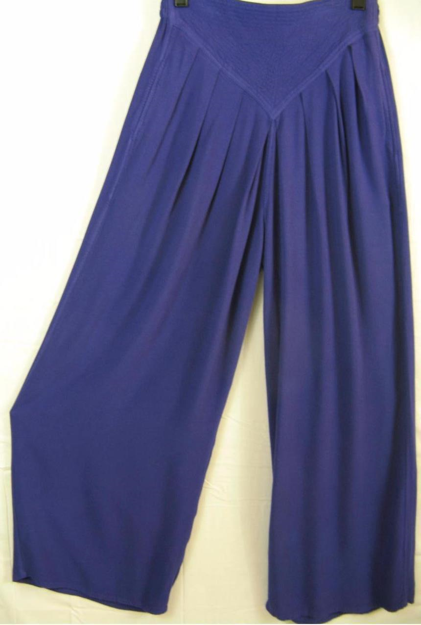 69.29$  Buy here - http://vifks.justgood.pw/vig/item.php?t=k158cx48612 - TIENDA HO~Purple Violet~SUSTI~CB50~Textured Yoke~PLEATED~Draped~VERY SOFT~OS M L 69.29$
