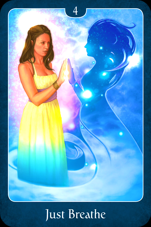 Psychic Tarot Cards Meanings: Just Breathe, From The Psychic Tarot For The Heart, By