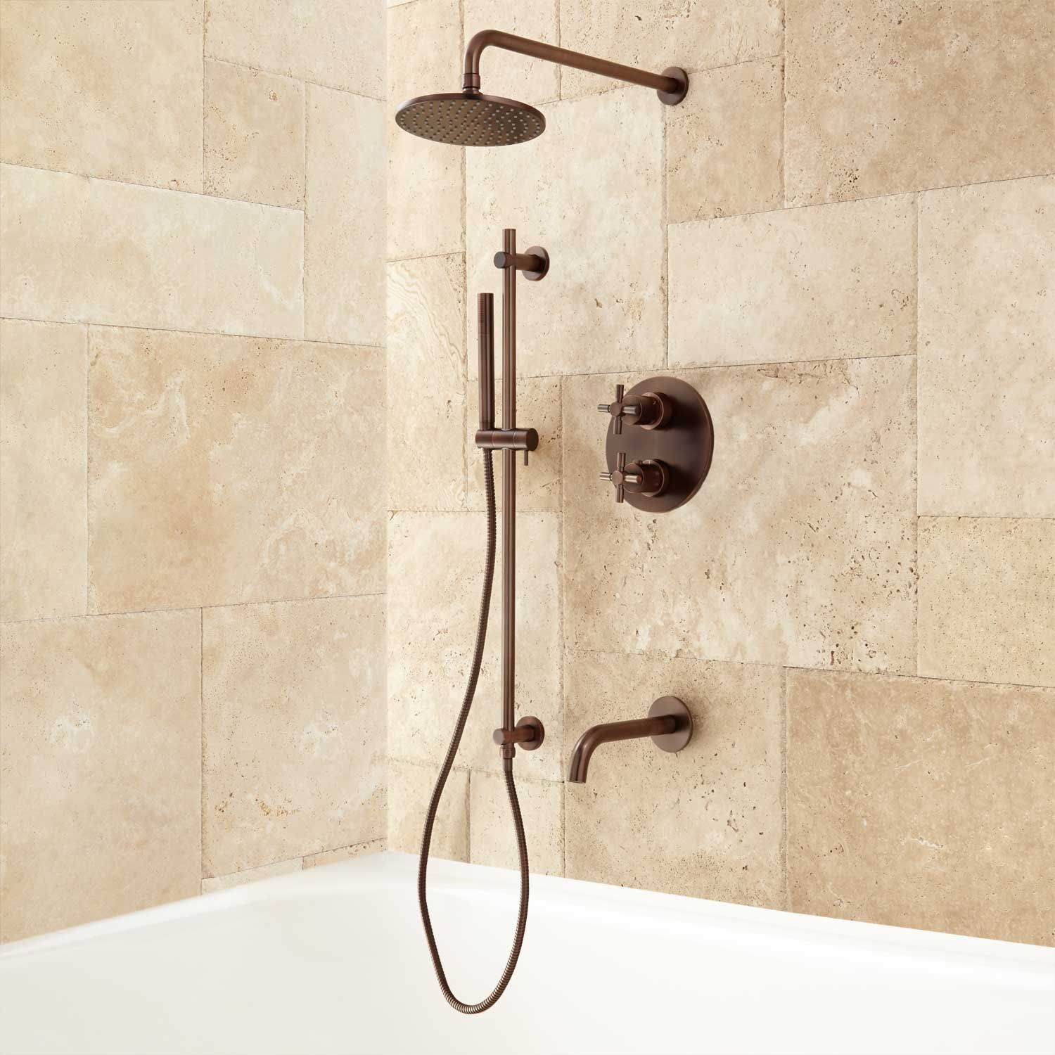 Kennedy Thermostatic Tub & Shower System | Shower systems, Tubs and ...