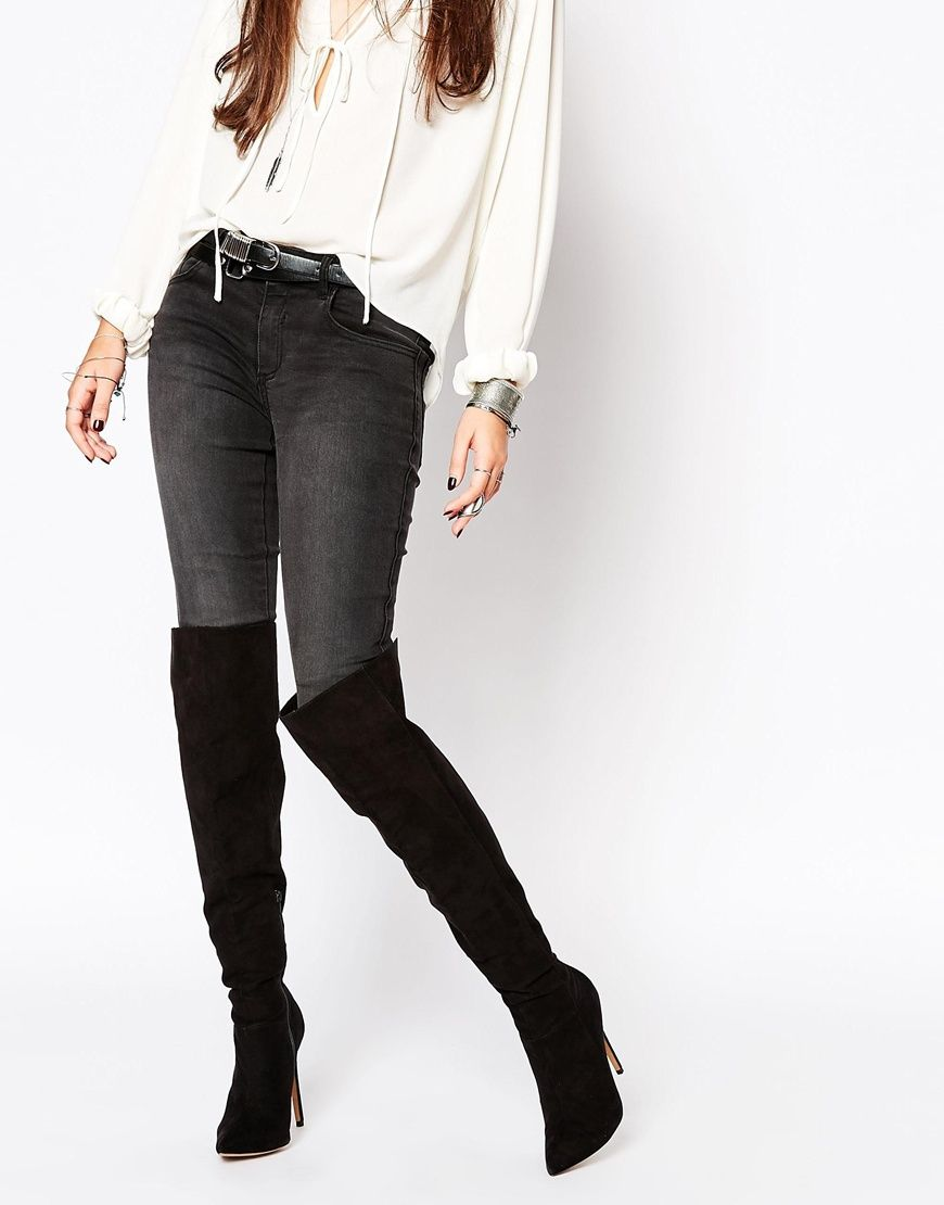 Image 1 of ASOS KINDRED Pointed Over The Knee Boots
