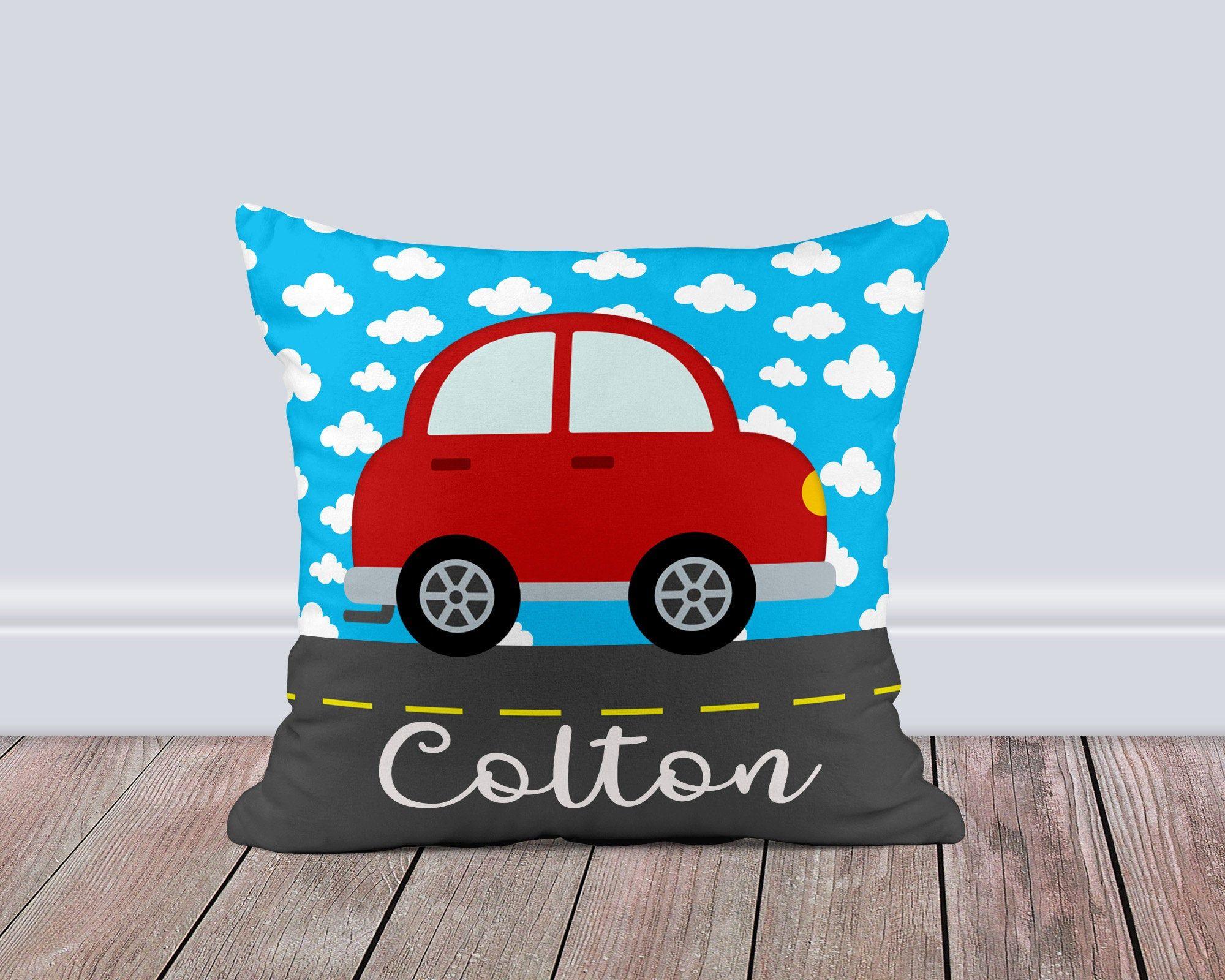 Car Pillow Cover Kids Car Decor Car Throw Pillow Personalized