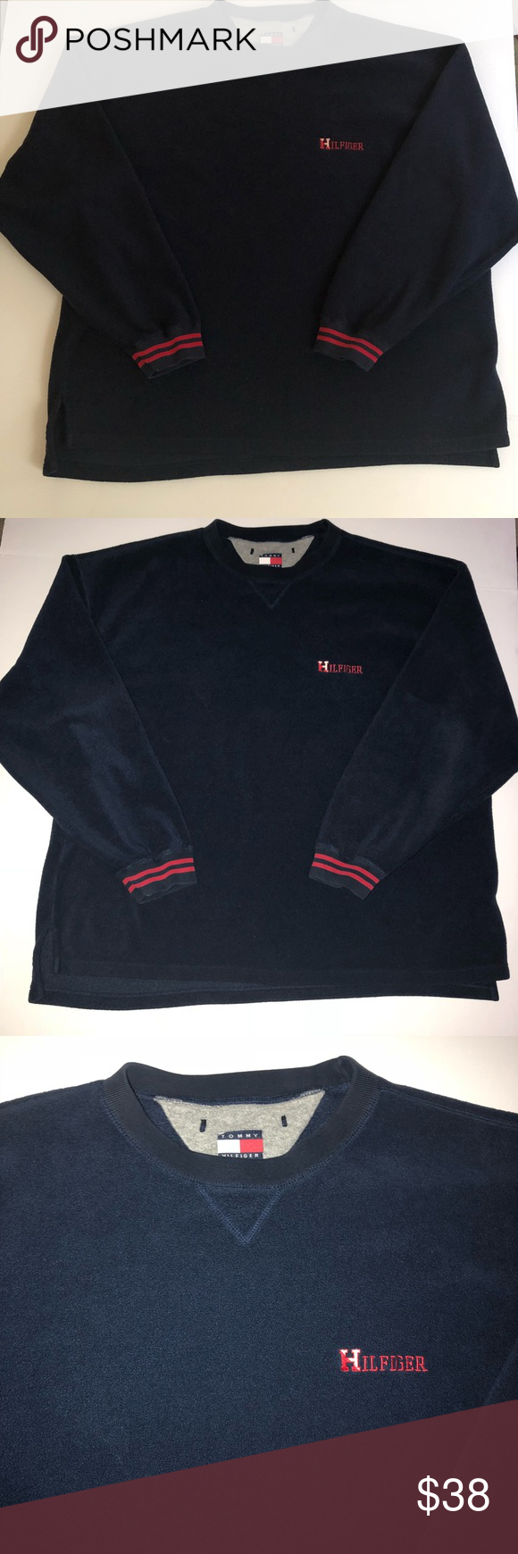 Menus xxl tommy hilfiger fleece sweater blue in great condition size