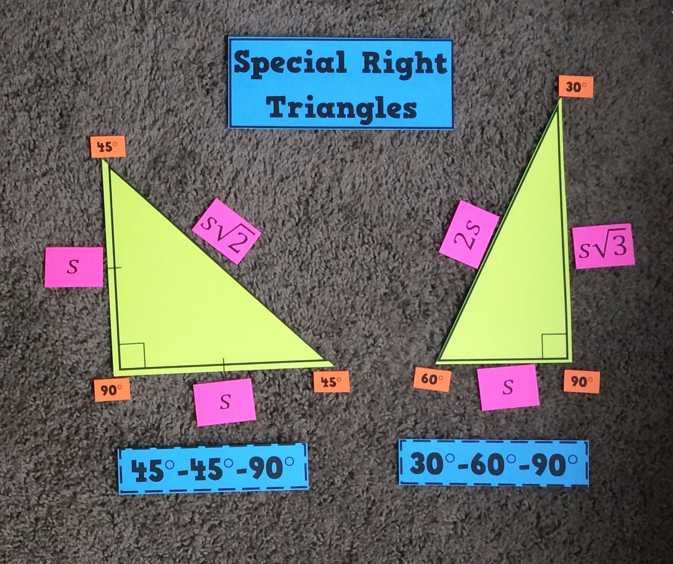 Special Right Triangles Display Free Download