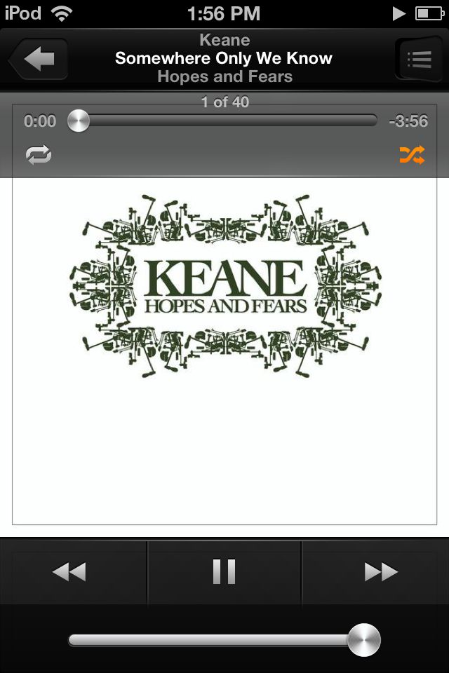 Somewhere Only We Know by Keane :) that song from the Winnie the Pooh movie!!!