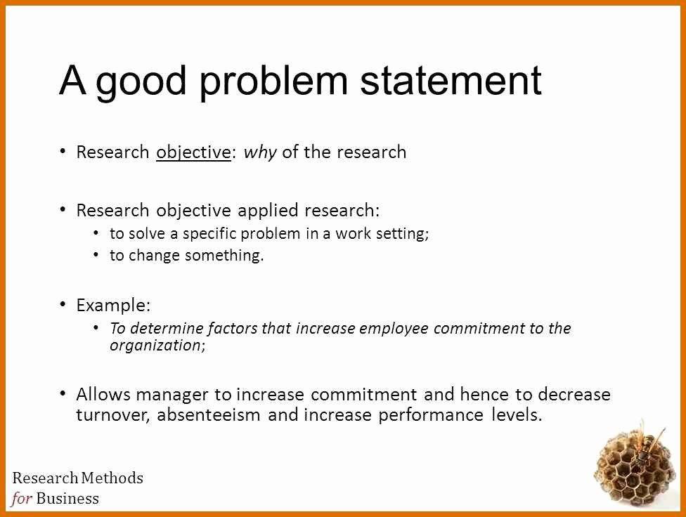 Business Problem Statement Example Elegant Problem