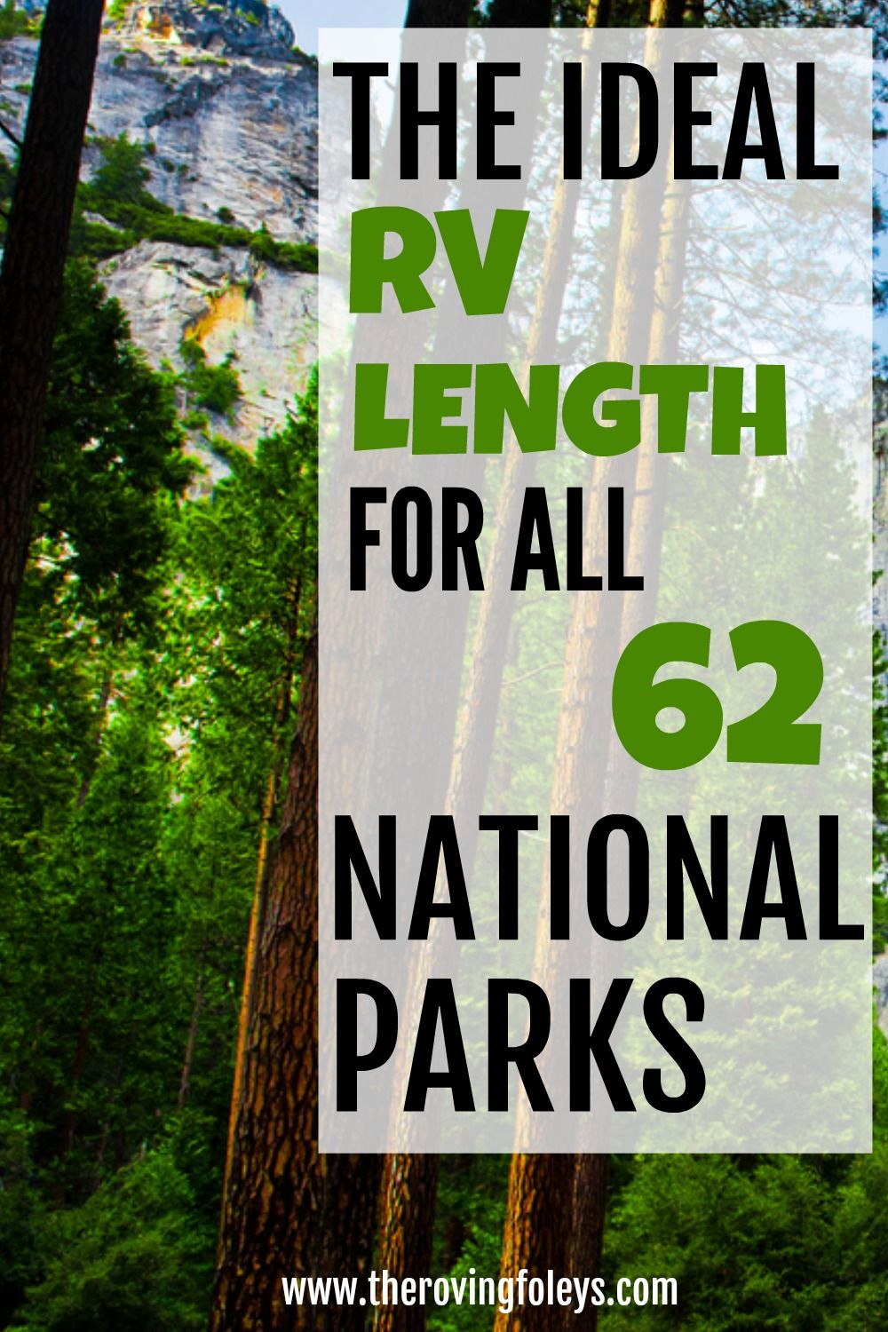 2020 Guide National Parks Rv Length Every Park The Roving Foley S In 2020 Rv Camping Trips Travel Trailer Camping Rv Road Trip
