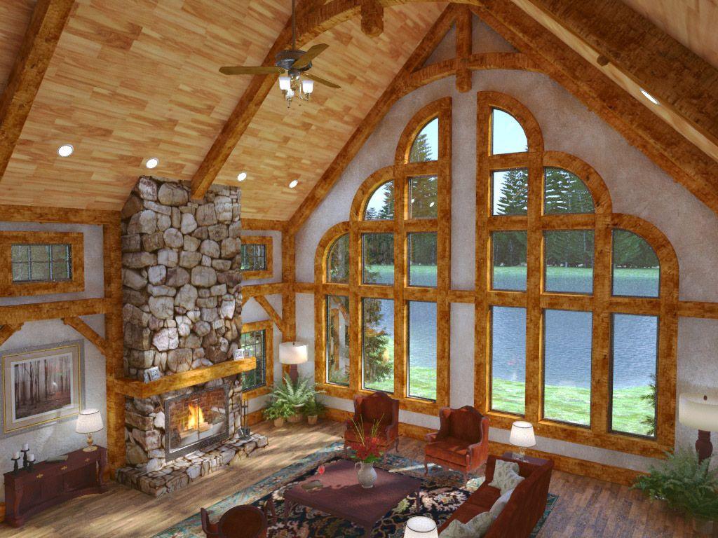 Exterior: Exposed Beam Timber Frame
