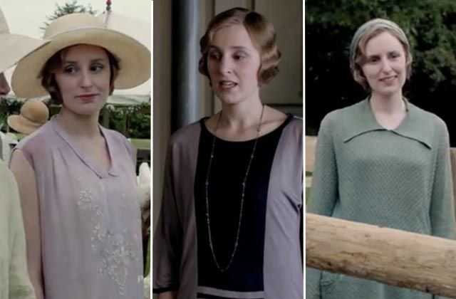 Downton Abbey  Fashion Recap: Quick Changes: And let's not forget these three: garden party pretty, Art Deco for the house, and a big knit top for the pig trough.