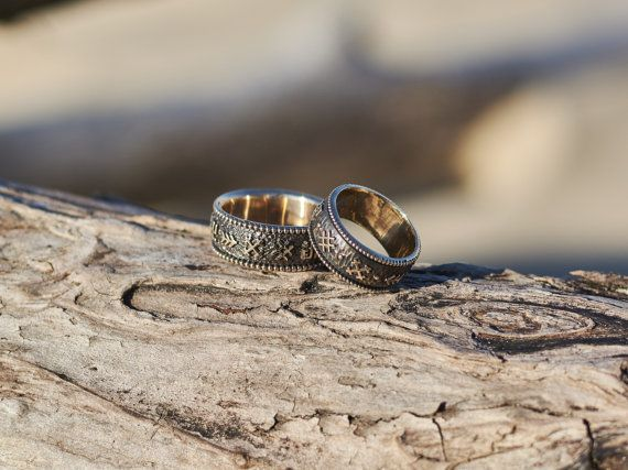 Wedding Band Set Unique Wedding Rings His And Hers Wedding Bands
