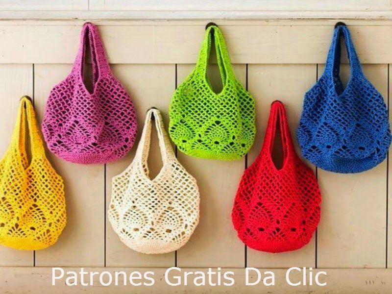 Mis Pasatiempos Amo el Crochet: Bolsa de ganchillo con patrones más ...