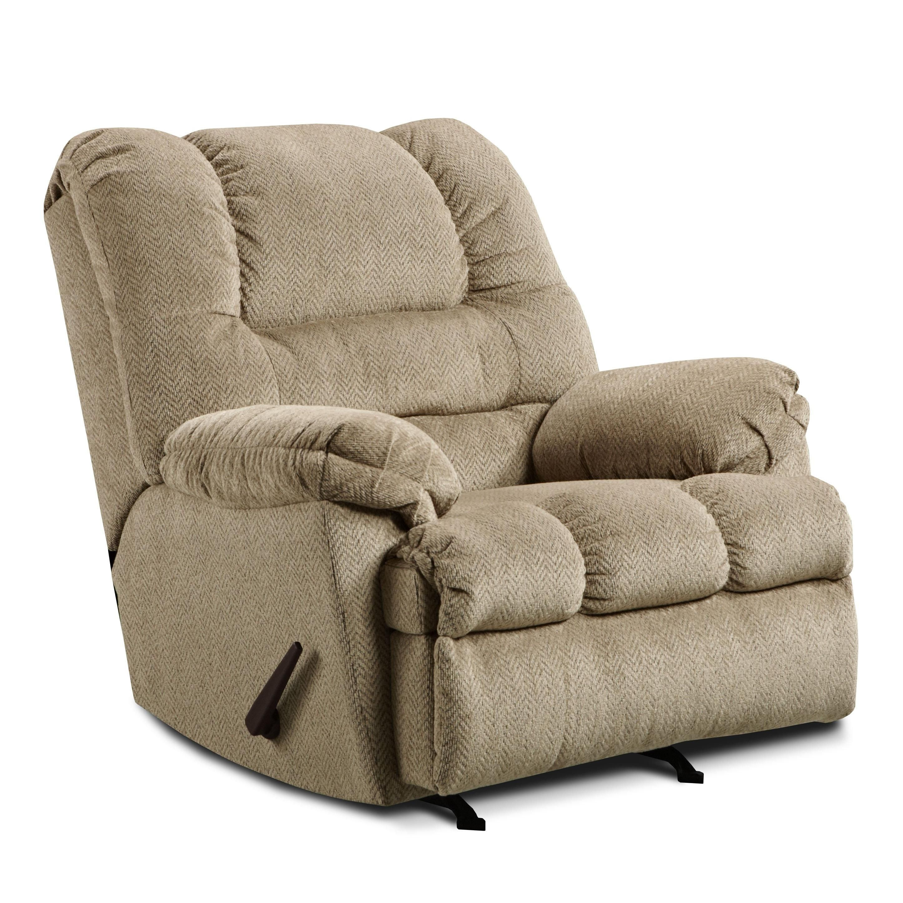 600 Casual Oversized Rocker Recliner By United Furniture Industries Bina