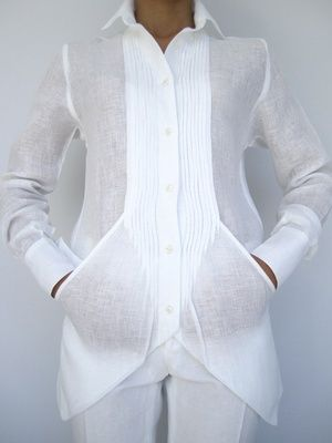 A white shirt like this can be a woman's power statement for business or evening wear. Amazing tucks and pockets - diseño...bolsas.. - down blouses, pink blouse, white wrap over blouse *sponsored https://www.pinterest.com/blouses_blouse/ https://www.pinterest.com/explore/blouses/ https://www.pinterest.com/blouses_blouse/red-blouse/ http://www.landsend.com/shop/womens-shirts-blouses-blouses/-/N-fxw?brandCode=classic