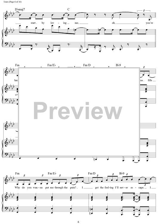 Tears Sheet Music By Clean Bandit Sheet Music Clean Bandit Tears