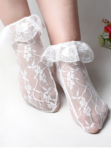 later in stock special section Women Lace Ruffle Frilly Ankle Socks in 2019 | Frilly socks ...