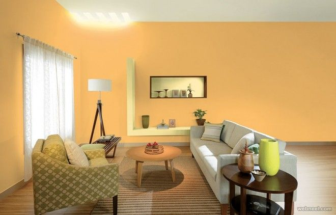 50 Beautiful Wall Painting Ideas and Designs for Living room Bedroom ...