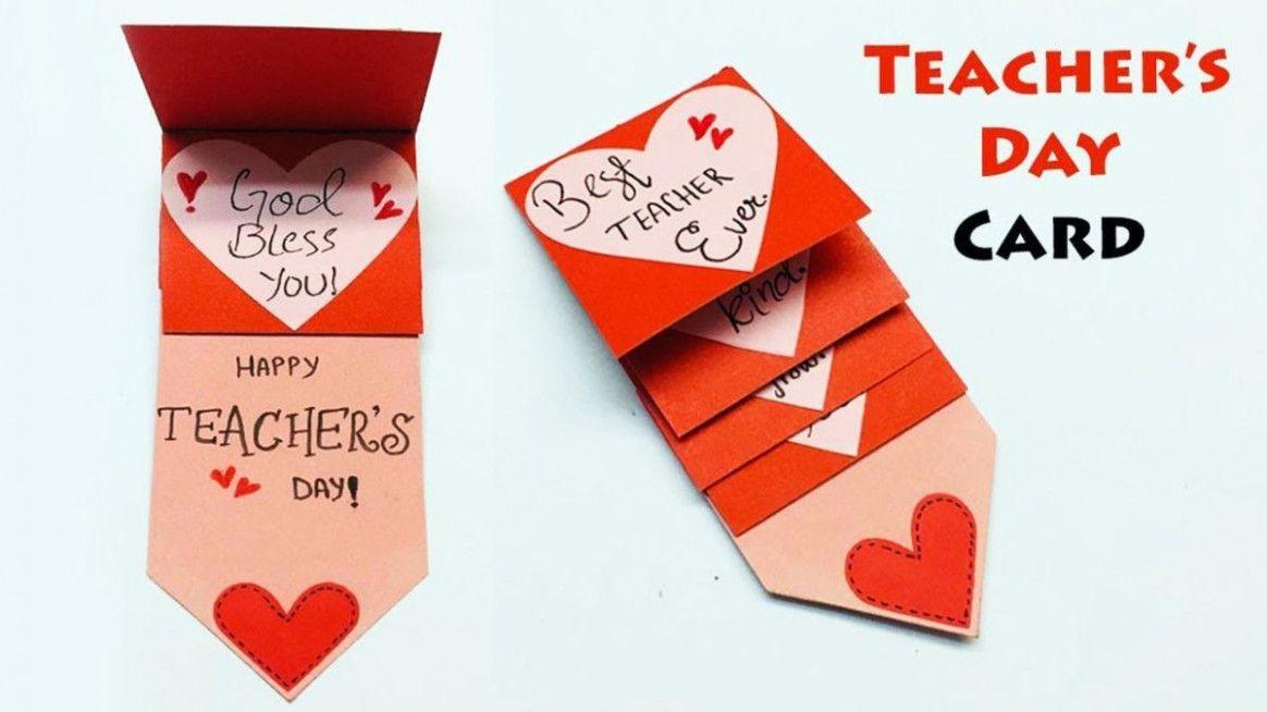 Diy happy teachers day card