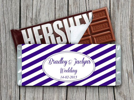 Wedding Candy Bar Wrapper Template Cadbury Purple White 155 - candy bar wrapper template