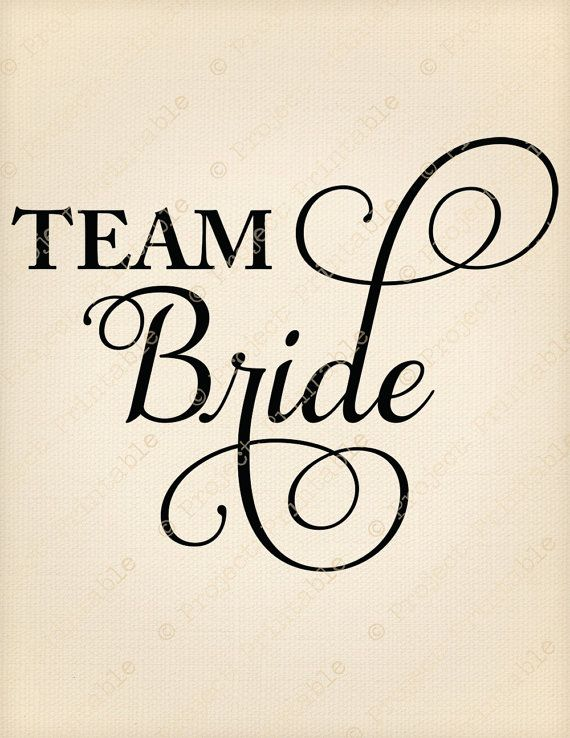 Instant Wedding Printable Team Bride Sign Fabric Image Transfer Iron On T Shirt Graphics Hen Party Print Clipart Marriage