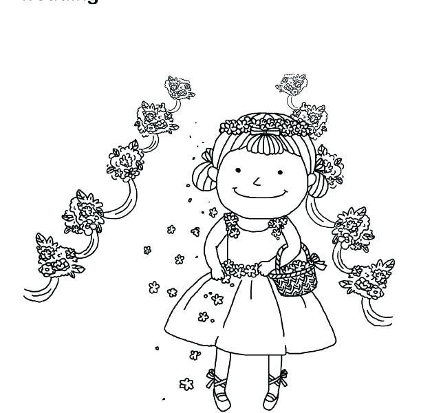 Flower girl coloring book flower girl coloring book page pleasing ...