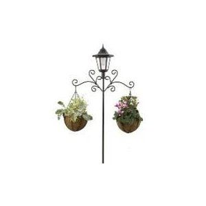 Lamp Posts With Plant Hangers Includes 2 X 8 Baskets Coco Liners Welcome Your Guests A