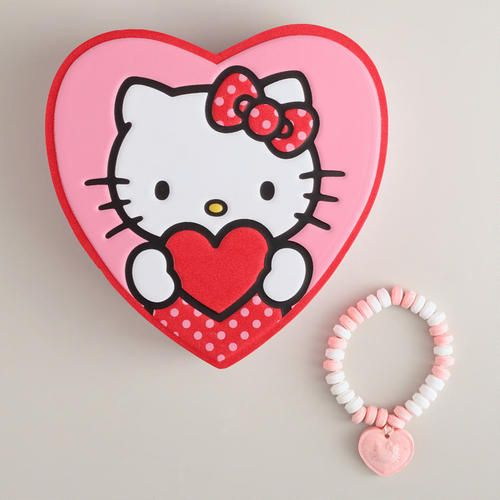 f262af385 Frankford Hello Kitty Foam Heart Box | CORAZONES | Hello kitty ...