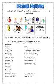 english worksheet personal pronouns verb to be exercises atividades escolares pinterest. Black Bedroom Furniture Sets. Home Design Ideas
