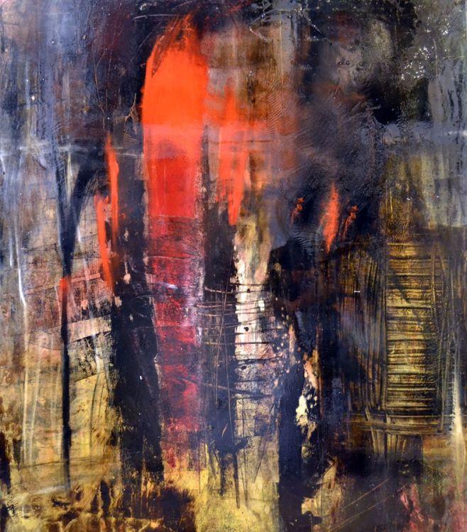 Noche en Marsella I, 60x48, oil on canvas by Michael Lotenero