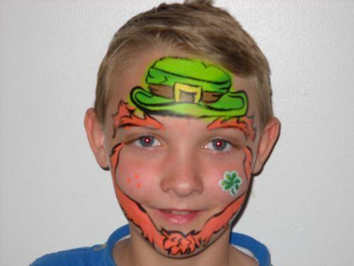 Leprechaun Face Paint Design