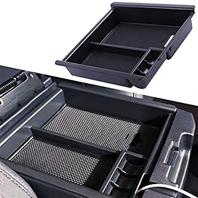 Amazon.com: JDMCAR Compatible with Tacoma 2016-2019 2020 Center Console Organizer Insert ABS Black Materials Tray, Armrest Box Secondary Storage: Automotive