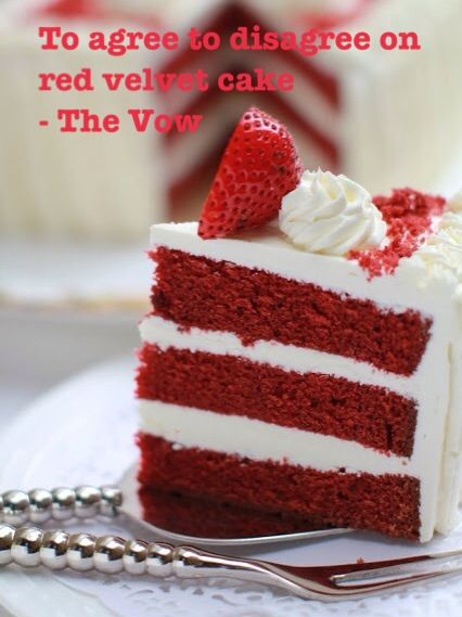 To Agree To Disagree On Red Velvet Cake