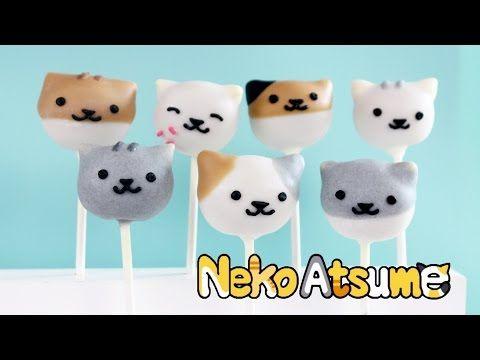 How To Make Cat Cake Pops Neko Atsume Cat Cake Cake Pop Tutorial Animal Cake Pops