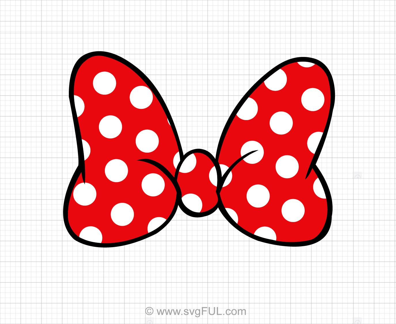Minnie mouse bow. Polka dot svg clip