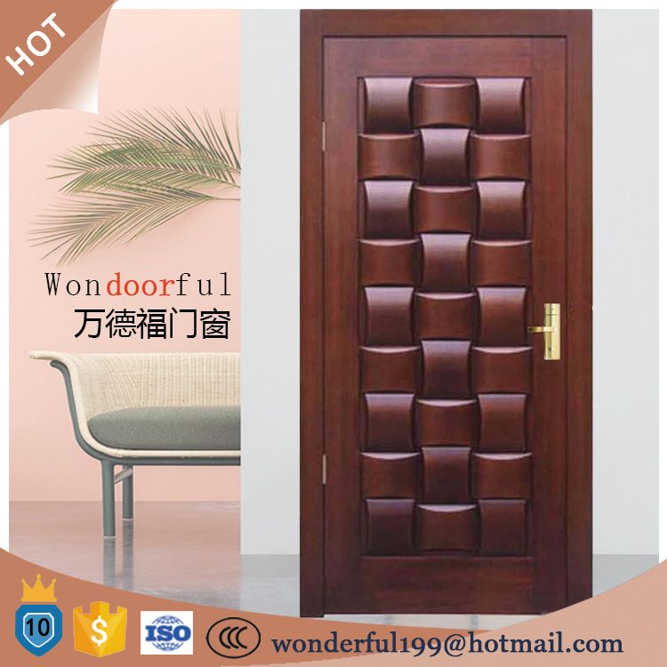 Customized house decorative design solid wood bread main for Main door ideas