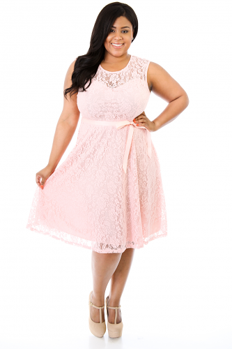 Lace Exposure Flare Dress