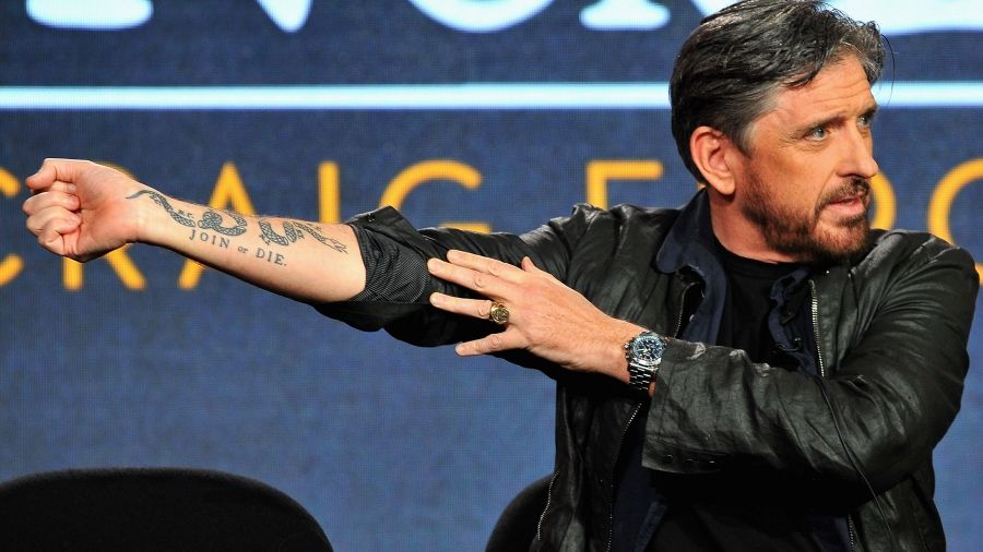 Check Out Craig Fergusons Join Or Die Snake Tattoo