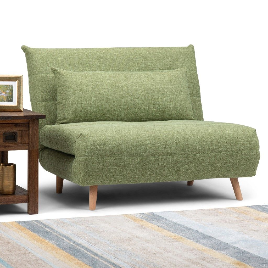Asher Roll Out Sofa Bed In Green