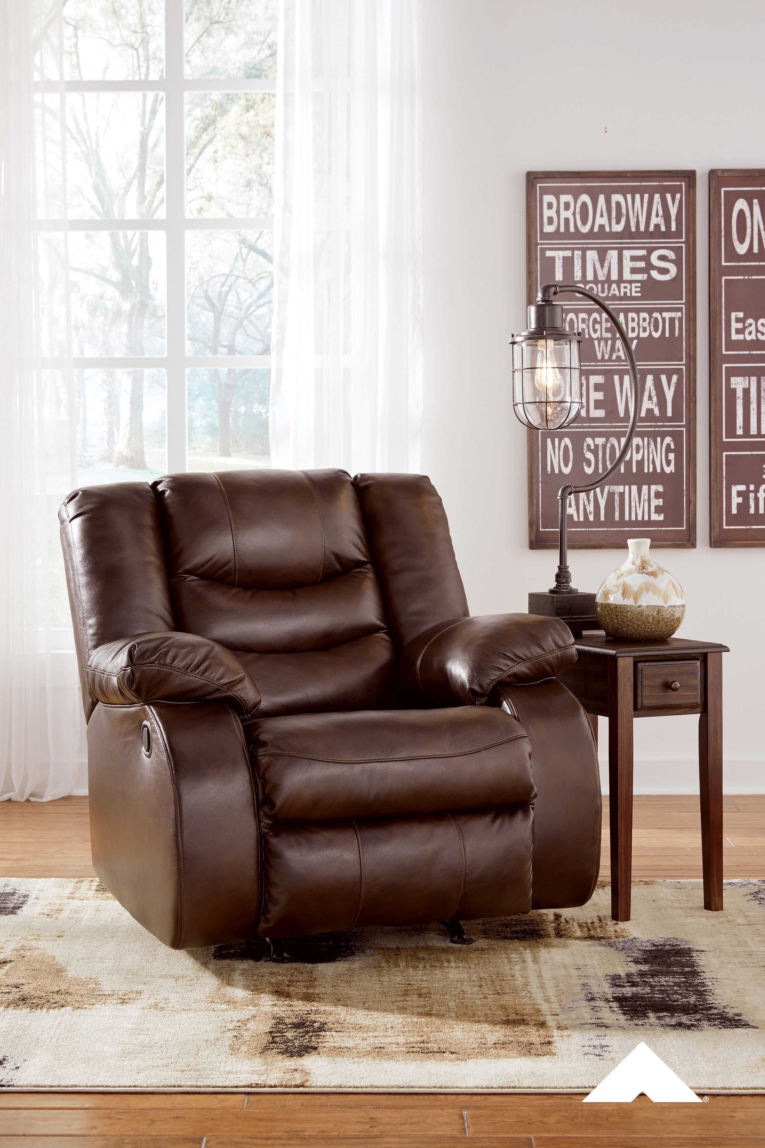 Neverfield Chocolate Rocker Recliner By Ashley Furniture This Rocker Recliner Has A Timeless Appeal That The Whole Rocker Recliners Leather Recliner Recliner