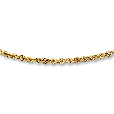 8c351d999f5 Rope Chain Necklace 10K Yellow Gold 20