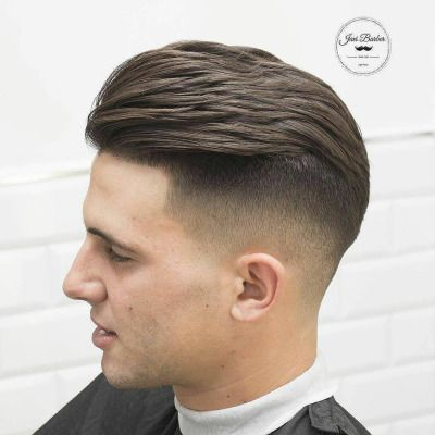 Mens Hair Haircuts Fade Short Medium Long Buzzed Side Part Top Sides Style Hairstyle Haircut Color Slick Back