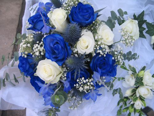 royal blue flowers for wedding royal blue wedding bouquet wedding bliss 7155