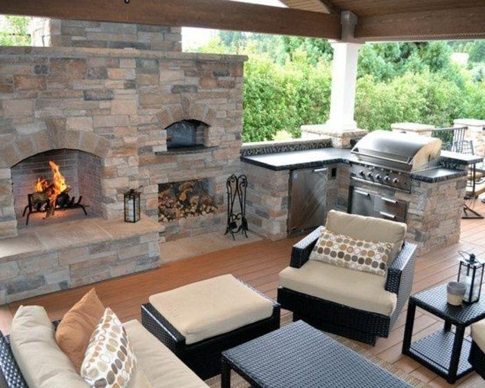 ▷ 10+ Ideen für Outdoor Grillküche mit modernem Design | Backyard ...