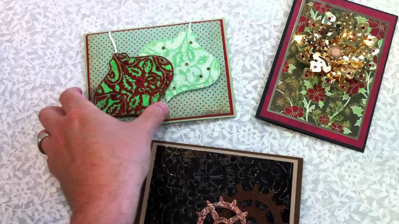 SEP 24 & 30 CLASS:  SHIMMER SHEETS CHRISTMAS CARDS!