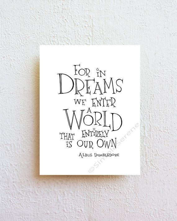 Harry Potter Nursery Decor For In Dreams We Enter A World Albus