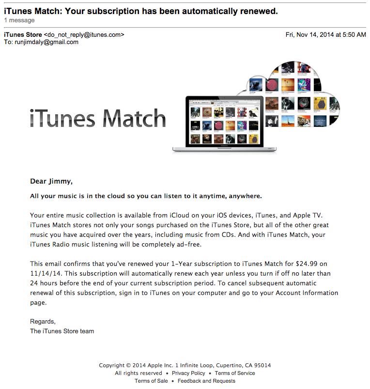 ItunesSubscriptionRenewalEmail  Work Subscription Renewal