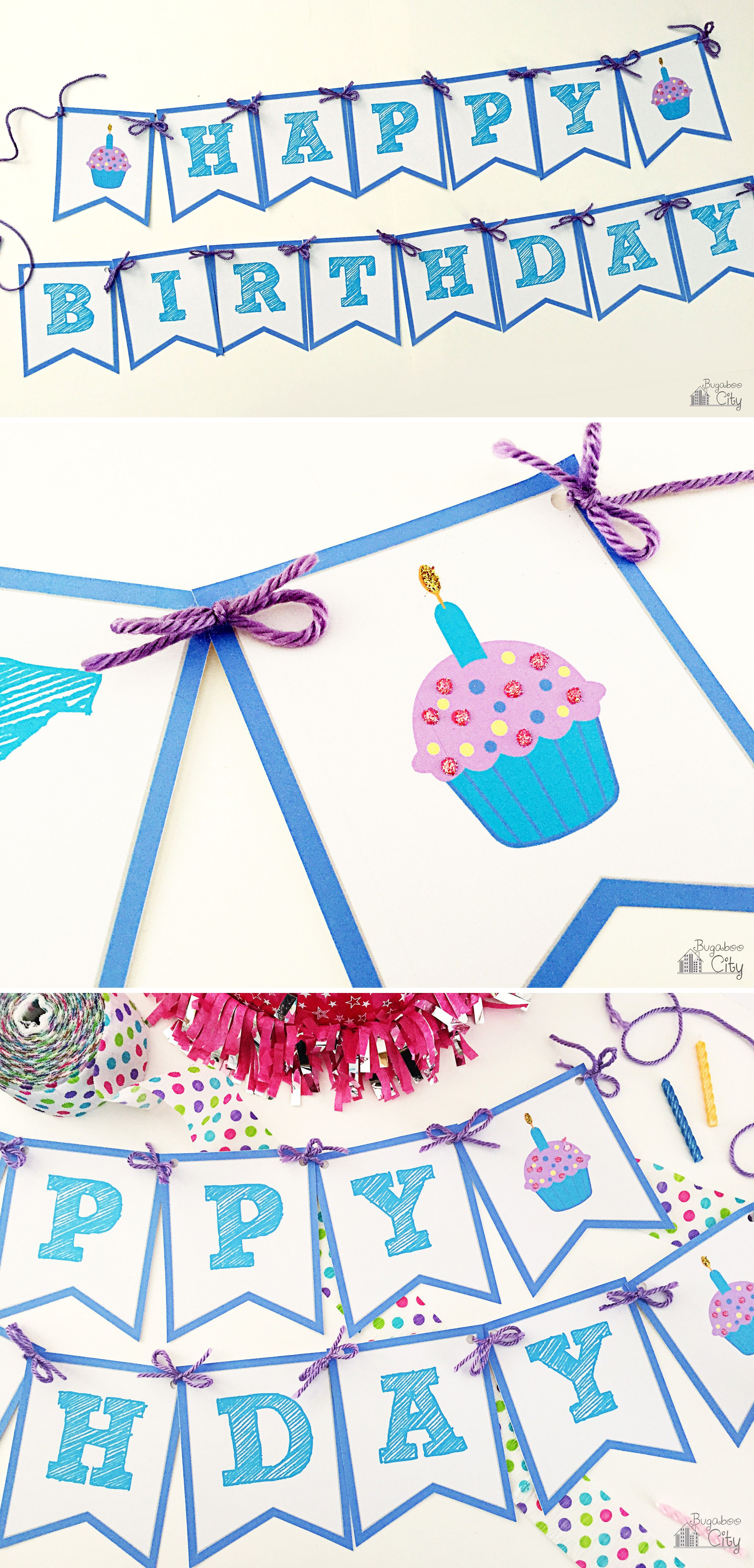 photo about Free Printable Happy Birthday Signs named Pleased Birthday Banner Paper crafts Content birthday